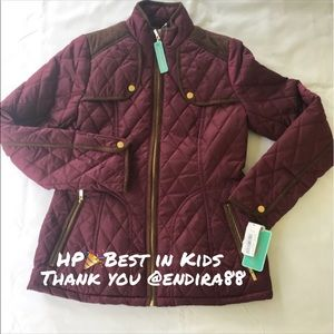 Copper Key Quilted Jacket for girls
